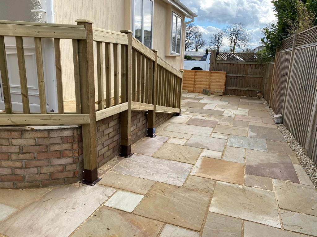 Indian Sandstone Patio with a Ramp in Radley, Oxfordshire